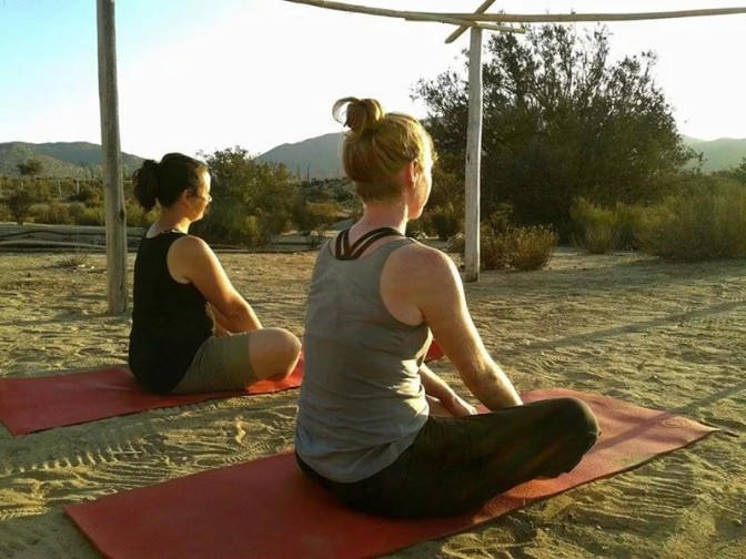 The Best Time Ever in the Desert Doing Yoga!
